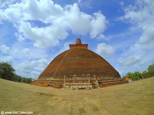 Spot people to get a perspective of this giant Jetvanaramaya Stupa at Anuradhapura - Ancient capital...
