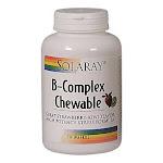 Solaray B-Complex Chewable Strawberry/Kiwi - 50 Wafers Strawberry-Kiwi - Vitamins & Supplements - Vitamins
