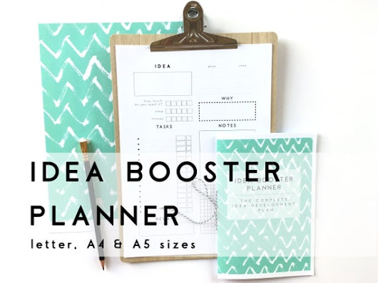 Idea Booster Planner. Creative Printable Planner Pages in A4, A5 and letter size to help you make it happen.