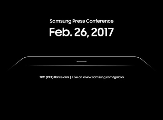 Samsung galaxy tab S3 leaks preview at upcoming mobile phone event