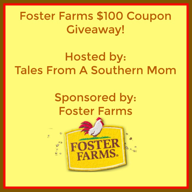 Enter the  Foster Farms $100 Coupon Giveaway . Ends 12/10