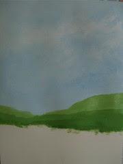 """Art practice: """"Blue Sky, Green Fields"""" (3 of 7)"""