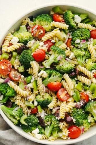 Greek Broccoli Pasta Salad