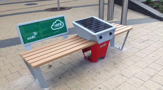 These solar-powered DC benches provide free Wi-Fi and can charge your phone