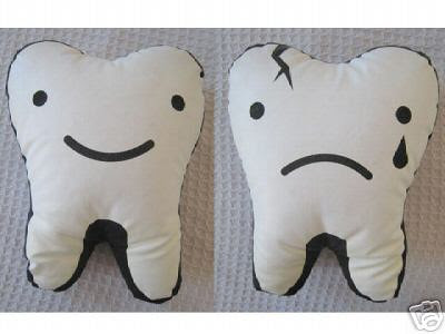 Tooth cushion by Brown M&M's