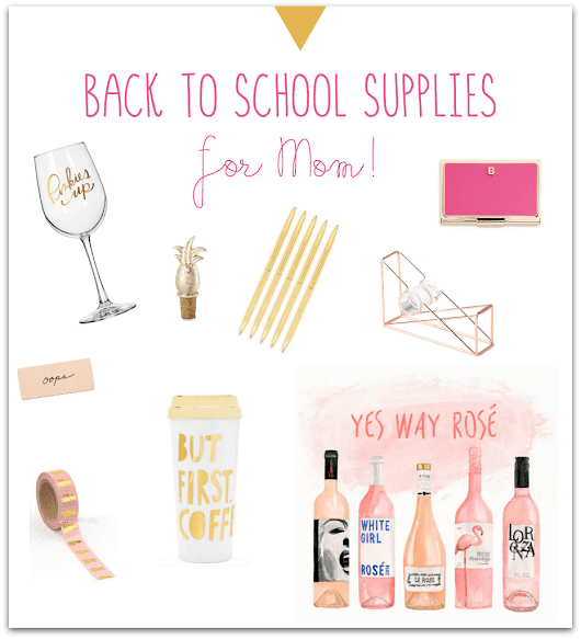 Back To School Supplies for Moms! Tabler Party Of Two