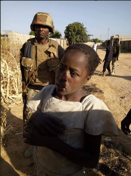 Female Suicide Bomber Bursts Into Tears After Being Nabbed In Borno (Photos)