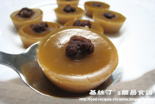 缽仔糕 Steamed Rice Cup Cake with Red Bean01