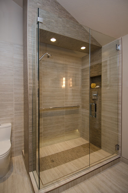 Master Bath with Vaulted Ceiling Remodel - Contemporary ...