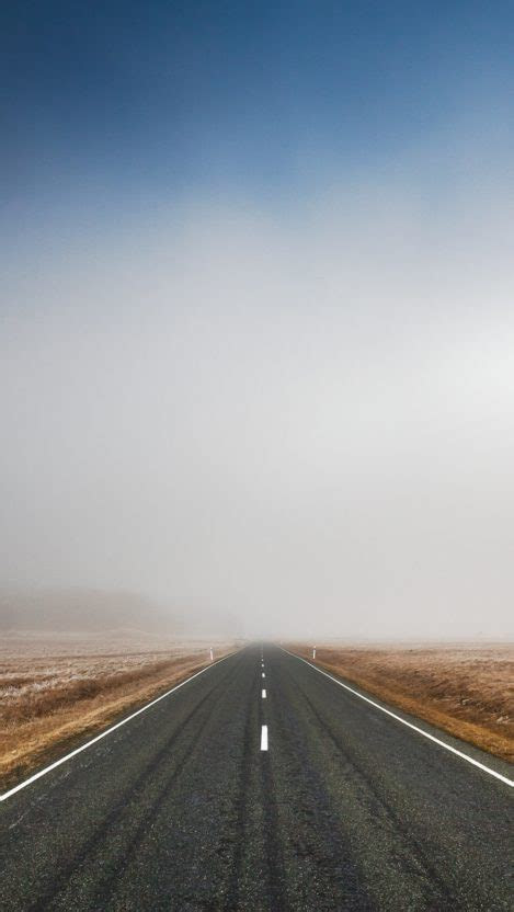 endless road fog iphone wallpaper iphone wallpapers