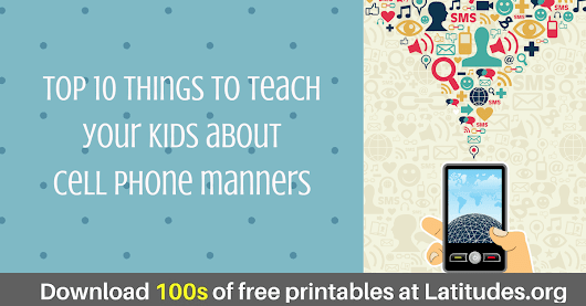 Top 10 Things to Teach Kids about Cell Phone Manners | ACN Latitudes