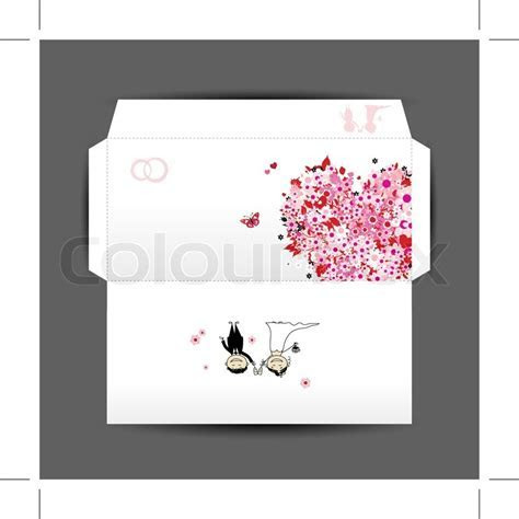 Design of wedding envelope   Stock Vector   Colourbox