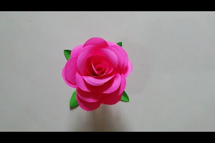 Contoh Gambar Kolase Bunga Mawar Dari Kertas Origami