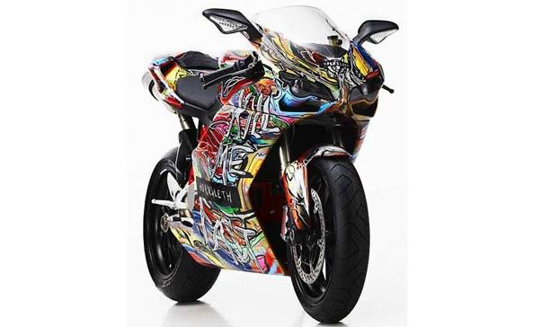 """Com muitas cores vivas e que dão um ar de surrealismo e psicodelia, o """"Projeto Ducati"""" (Ducati Project) está dando o que falar. O artista usou a inspiração..."""