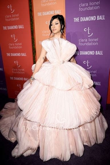 cardi  pearl pink strapless princess gown  diamond ball thecelebritydresses