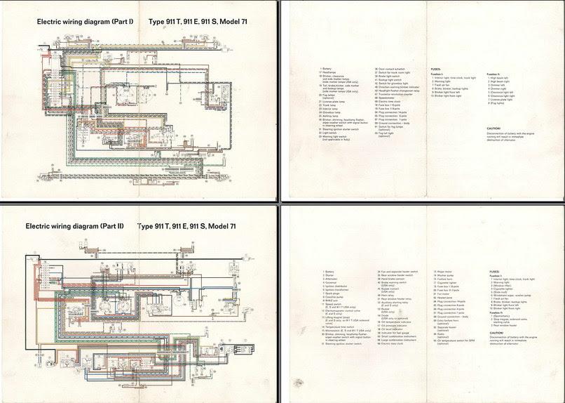 Electric Wiring Diagram 911 1971 Elektrische Installatie Techniek Alles Over De 911 En 912 Klassieke Porsche 911 En 912 Club Nederland