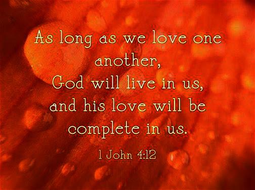 [Graphic of 1 John 4:12]