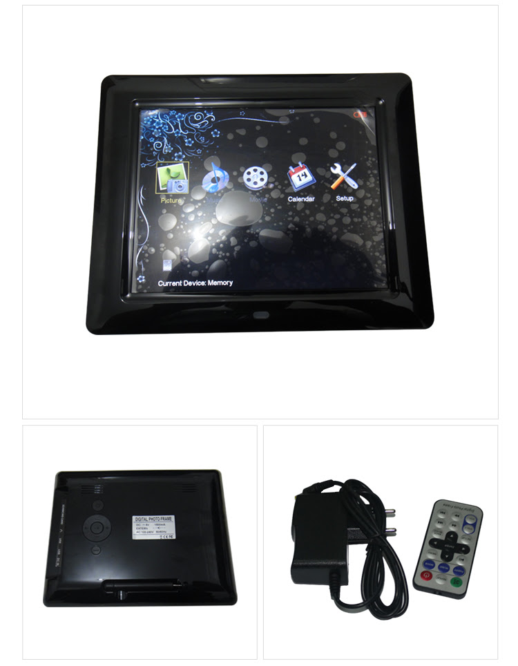 Remote Control Touch Screen Battery Operated Digital Picture Frame