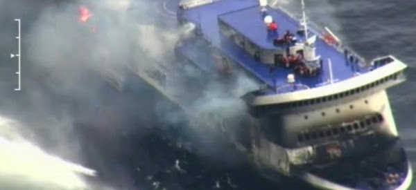 Rescue operations of the ferry Norman Atlantic