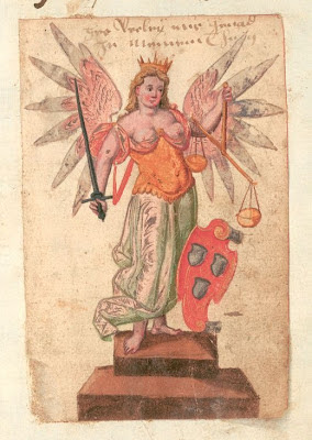 painted figure of libra/justice