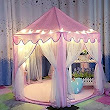"Amazon.com: IsPerfect Kids Indoor Princess Castle Play Tents,Outdoor Large Playhouse With Led Lights,Perfect Outdoor Child Toys - 55""x 53""(DxH): Toys & Games"