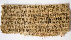 Gospel of Jesus Wife papyrus