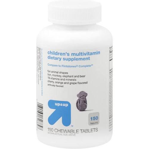 Up & Up Children's Multivitamin Dietary Supplement, Cherry/Orange/Grape, Chewable Tablets - 150 count bottle