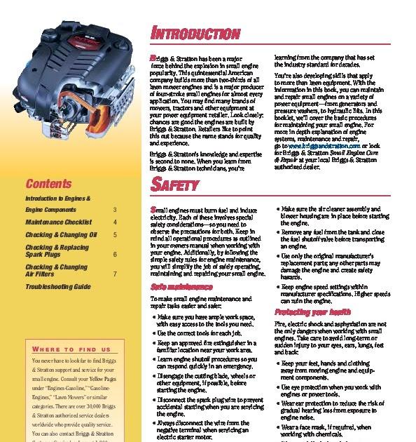 Briggs And Stratton Repair Manual Pdf Download