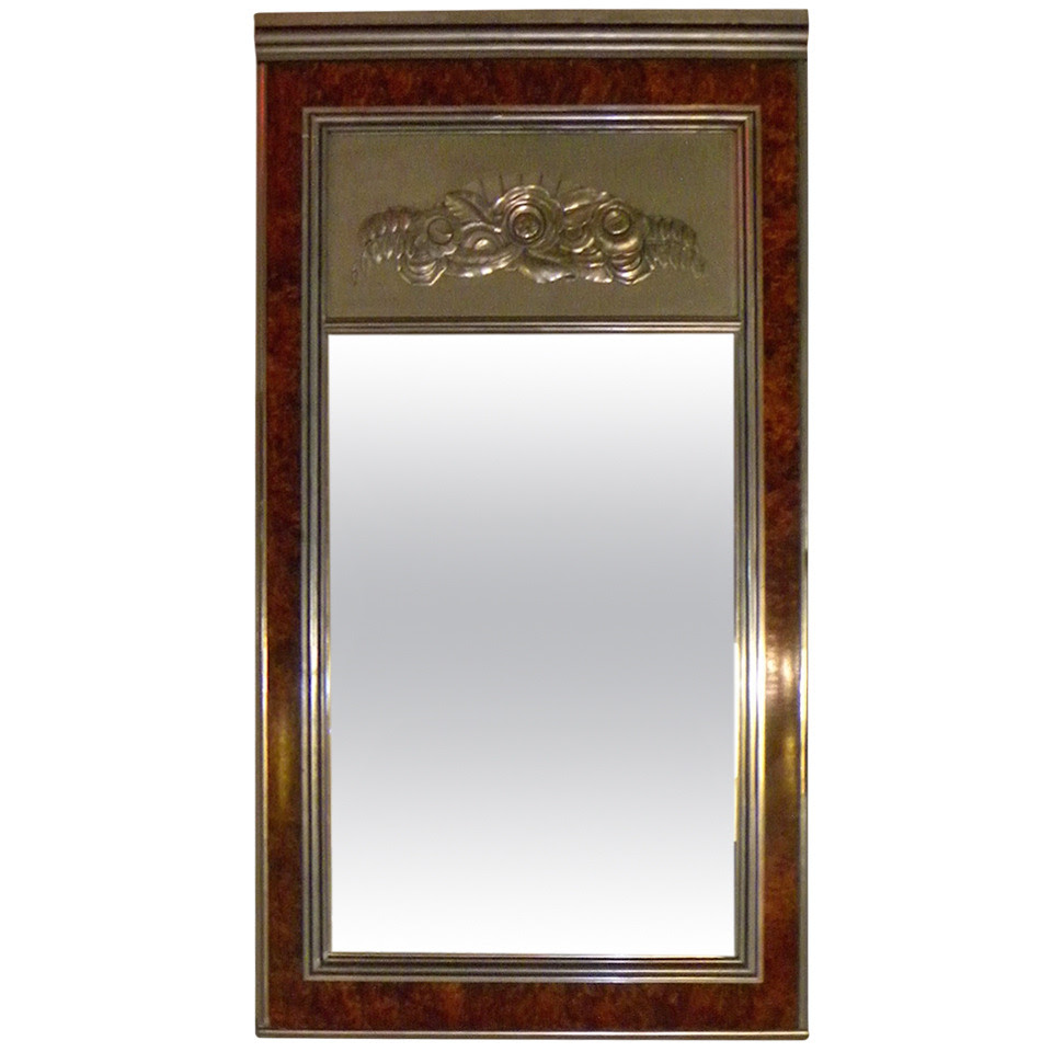 Art Deco Regency Style Large Mirror Sold Items Mirrors Art Deco