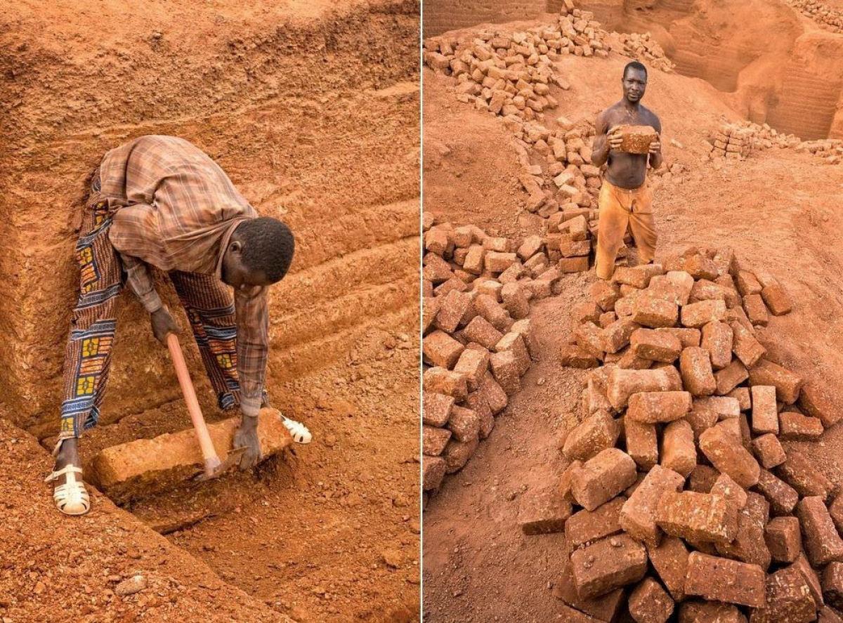 A pedreira de tijolos de Karaba em Burkina Faso 07