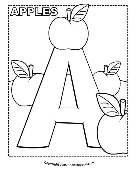 apples  coloring pages  kids printable