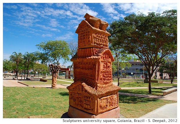 Terracotta Sculptures University square, Goiania, Brazil