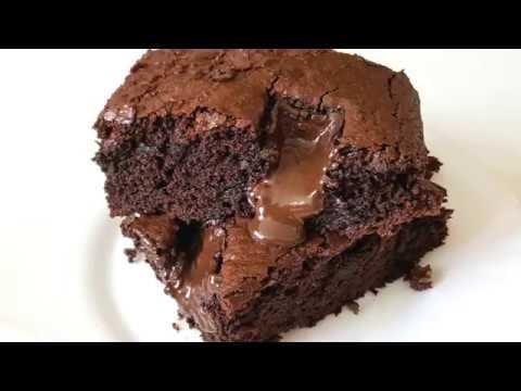 Brownie με κομμάτια σοκολάτας χωρίς μίξερ (Βίντεο)