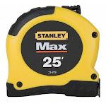 "25 Ft. Tape Measure, 1-1/8"" Blade, Stanley 33-279"