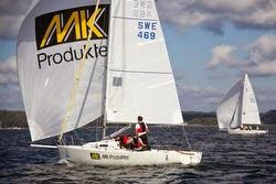 J/80s sailing off Stockholm, Sweden