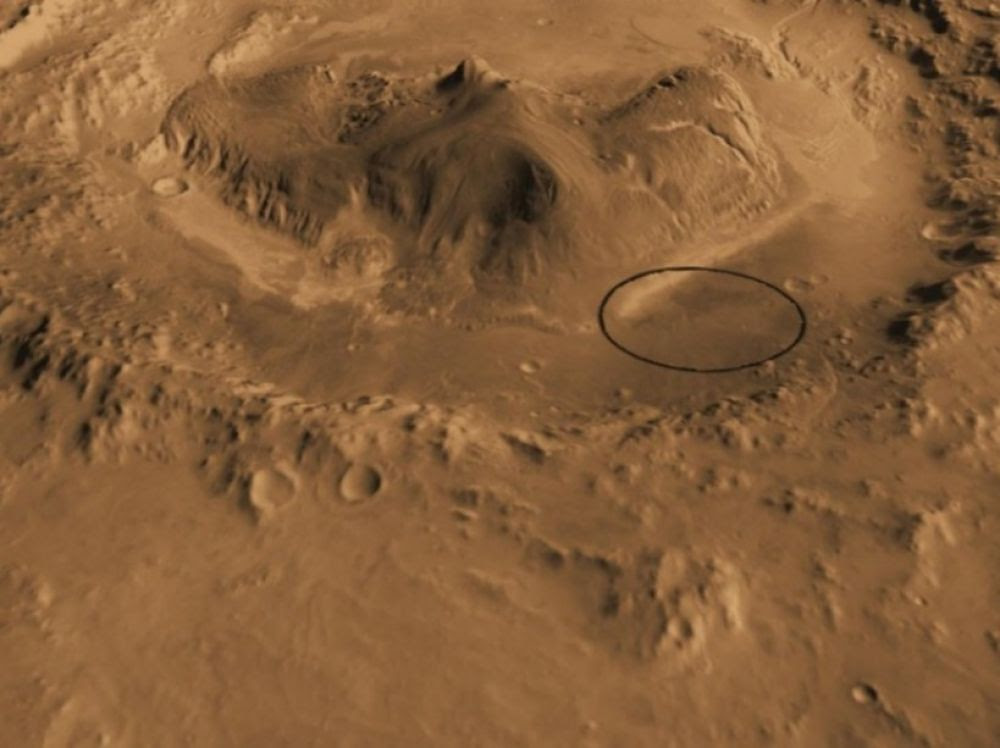 """Résultat de recherche d'images pour """"""""Curiosity, c'est là qu'il faut atterrir !"""""""""""