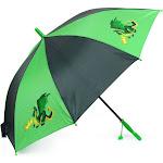 Zodaca Portable Lightweight Green Dragon Children Kids Rain Umbrella