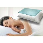 2pc Cooling Chill Pillow Pad Insert - Instant Cooling and Comfort, Soft, No Water Filling No Leaks - Sleeping Cold Pad Insert