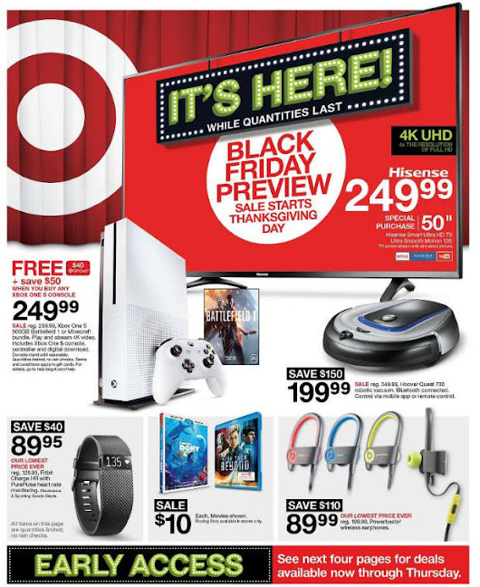 Target Black Friday 2016 Doorbuster ad circular released (see all 40 pages)