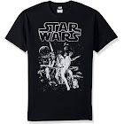 Star Wars Men's Official 'Poster' Design Performance Graphic Tee, Black