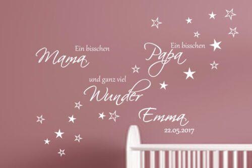 Dekoration Wandtattoo Kinderzimmer Aa139 Ein Bisschen Mama Personalisiert Namen Baby Mobel Wohnen Elin Pens Ac Id