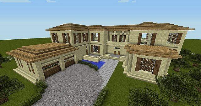 Minecraft Realistic Mansion Minecraft Project