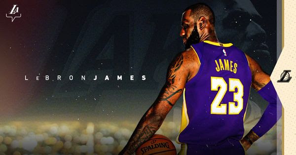 LeBron James officially became a Los Angeles Laker on July 9, 2018.