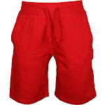 Mens Lifestyle Fleece Jogger Shorts Athletic Fit Hipster Hip Hop (Red