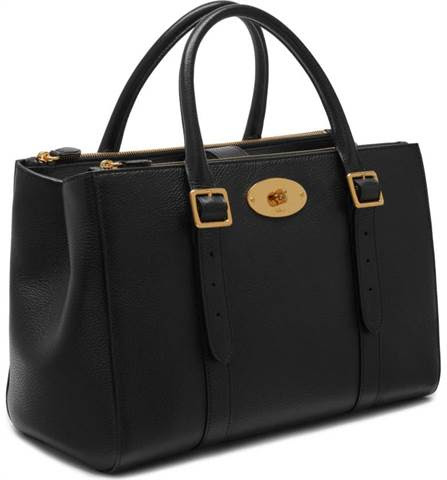 Bayswater Double Zip Leather Satchel