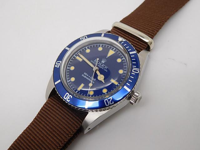 Rolex Submariner Blue Watch 5508