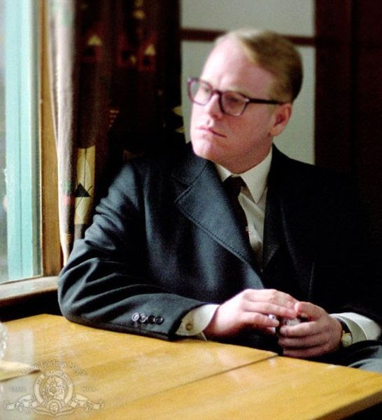 Philip Seymour Hoffman in his Oscar-winning role as Truman Capote in 2005's CAPOTE.