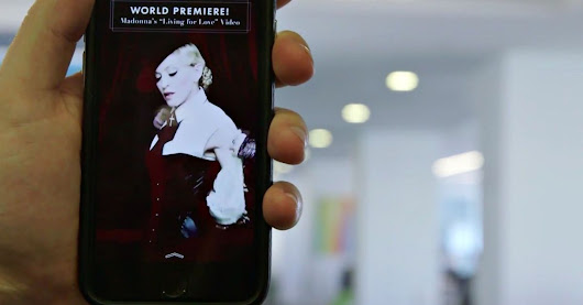 Like a Snapchat virgin, Madonna premieres a music video on Snapchat
