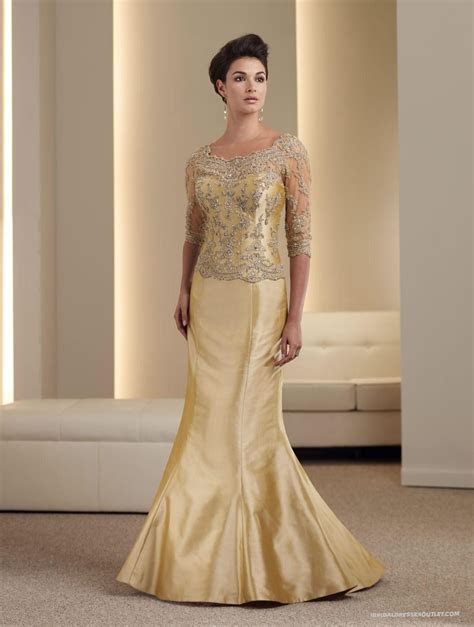 Mother Of The Bride Dress, in gold / modify the color