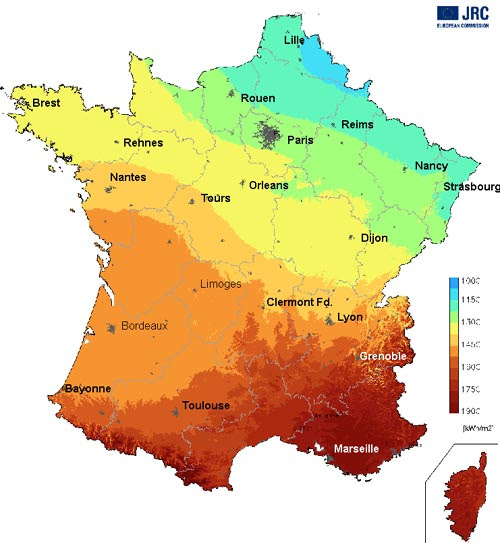 Climate Map France | GOOGLESAND